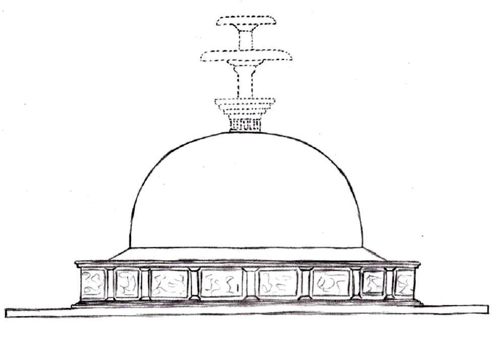 Butkara stupa under the Kushans.